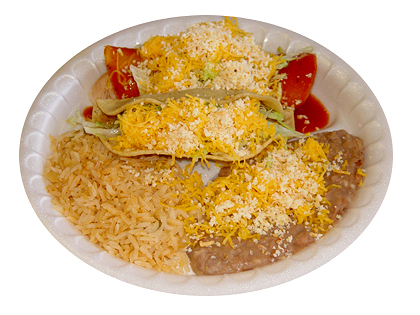 #1: Beef Taco & Cheese Enchilada