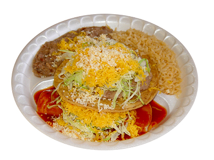 #2: Bean Tostada & Cheese Enchilada