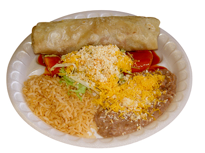 #5: Beef Burrito & Cheese Enchilada
