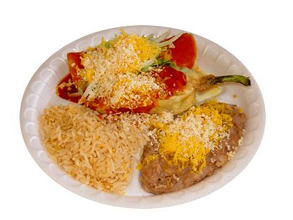#14: Chile Relleno & Cheese Enchilada
